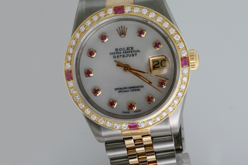 Women Ruby Diamond Rolex